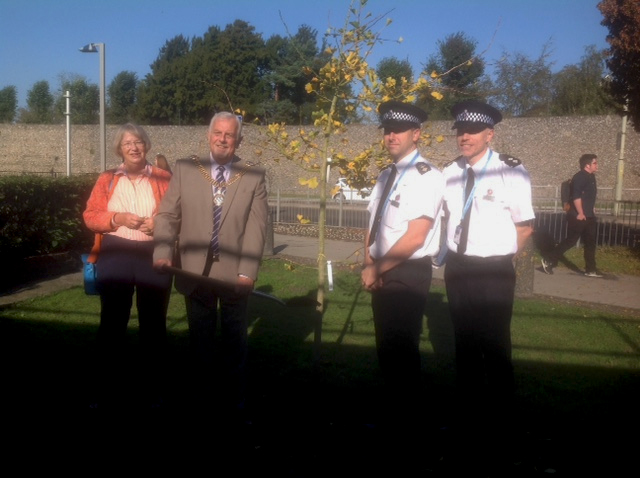 Ginkgo planted at Canterbury Police Station